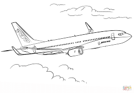 boeing 737 coloring page free printable coloring pages