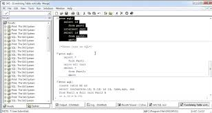 Joining Tables In Sql Sql Vertical Table Join In Sas Youtube