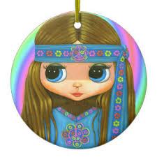 hippie ornaments keepsake ornaments zazzle