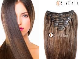 human hair extension clip in hair extensions 4 medium brown