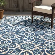 Navy And White Outdoor Rug Outdoor Rugs You Ll Wayfair