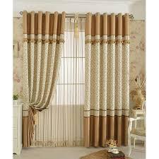 Custom Patio Door Rustic Leaf Color Block Custom Patio Door Curtains