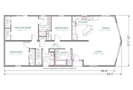 Rambler House by House Plans With One Floor And Bat
