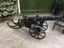 pair of early c20th ornamental cast iron cannon 288063