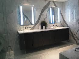 Statuario Marble Bathroom Modern Condo