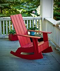 Good Wood For Outdoor Furniture by Love This New Take On The Adirondack Chair Rocker Made Of