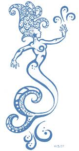 outline little mermaid tattoo design photo 3 photo pictures