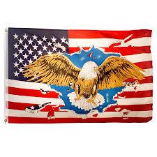 American Flag Header Eagle Usa Flag 3ft X 5ft Printed Polyester