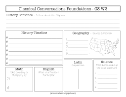blank weekly review sheets for classical conversations cycle 3