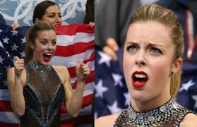 Ashley Wagner Meme - ashley wagner s angry face is this big olympic meme the interrobang