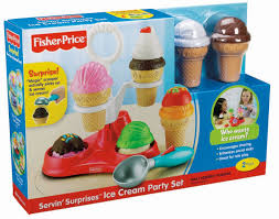 Fisher Price Servin Surprises Kitchen Table by Amazon Com Fisher Price Servin U0027 Surprises Ice Cream Party Set
