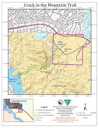 Lake Havasu Map In The Mountain Trail U2022 Hiking U2022 Arizona