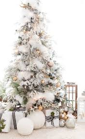 How To Put Lights On A Real Christmas Tree Best 25 Flocked Christmas Trees Ideas On Pinterest White