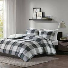 Twin Plaid Comforter Microfiber Plaid Comforters U0026 Bedding Sets Ebay