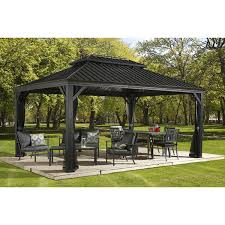 Patio Gazebos by 12 U0027x20 U0027 Sojag Messina Galvanized Steel Roof Sun Shelter Gazebo