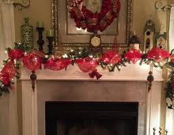 red gold swag garland for mantle