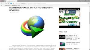 internet download manager free download full version with key serial 2015 internet download manager latest full version with crack