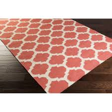 Moroccan Trellis Area Rug by Art Of Knot Large Lattice Hand Woven Flatweave Wool Area Rug