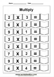 multiplication u2013 horizontal free printable worksheets u2013 worksheetfun