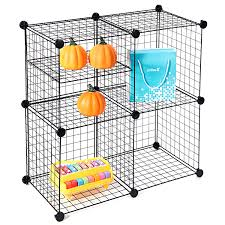 Wire Shelf Units Wire Storage Cubes Maidmax Free Standing Modular Shelving Units