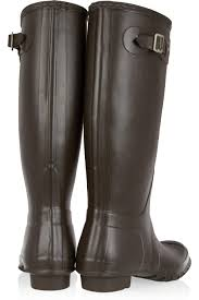 tall motorcycle boots hunter original tall wellington boots in brown lyst