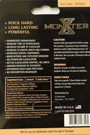 x monster review top male enhancement product