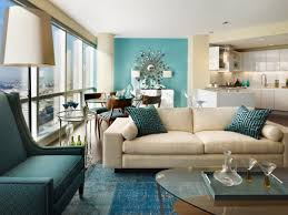 Decorating Ideas For Living Rooms With Brown Leather Furniture Turquoise Leather Sofa Turquoise Sheer Curtains Round Glass