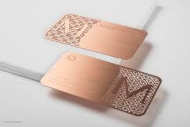 rose gold metal business cards