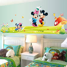 Mickey Mouse Room Decorations The New Listing Of Mickey Mouse Cartoon Wall Stickers Children