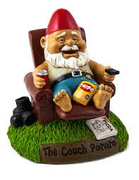 the couch potato garden gnome unique gifts shop colorful gifts