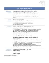 Janitorial Resume Examples by Sample Resume Janitor