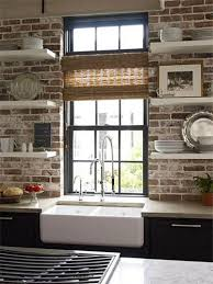 traditional kitchen backsplash kitchen backsplash tile designs with reclaimed brick backsplash