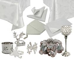 white and silver table runner silver swirl and glamour table arrangement roman at home