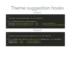 use theme hook suggestion in drupal open vani