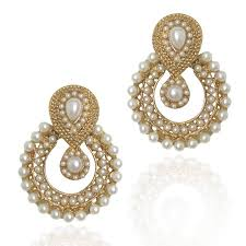 earrings images buy pearl traditional ethnic indian earring b332 online