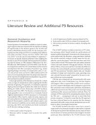 appendix b literature review and additional p3 resources