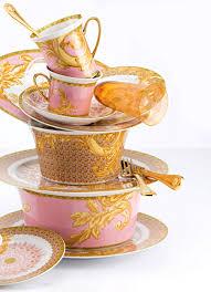 Versace Home Decor Rosa A Cor Das Meninas Mulheres Versace Dinnerware And Teas