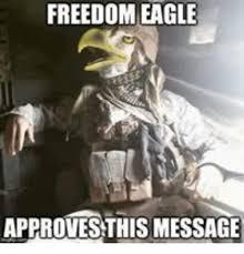 Freedom Eagle Meme - freedom eagle approvesthis message eagle meme on me me