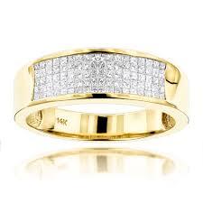 diamond men rings images 14k gold princess cut diamond mens wedding ring 1 50ct jpg