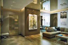 interior brown cream open living room design with artistic full image for brown cream open living room design with artistic painting in glossy brown wall