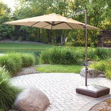 Offset Patio Umbrella With Base Mainstays Offset Outdoor Umbrella Base Walmart