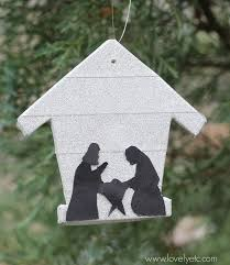 diy nativity ornament lovely etc