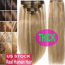 real hair clip in extensions clip in human hair extensions ebay