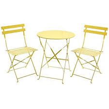 Folding Bistro Table And 2 Chairs Charles Bentley 3 Folding Metal Bistro Set Garden Patio