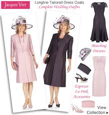 Dress And Jacket For Wedding Jacques Vert Ice Pink Shift Dress Frock Coat Matching Hats