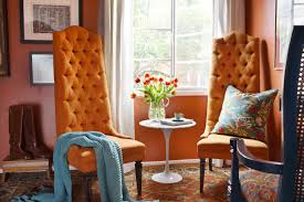 orange paint colors living room burnt color dining wall idolza