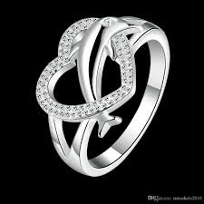 silver dolphin ring holder images 2018 heart dolphin silver rings with gift box zircon stone women jpg