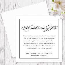 travel wedding registry black and white calligraphy wedding invitation