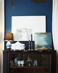 Navy Accent Wall by An Entry From Note To Self Vignettes Interiors And Spaces
