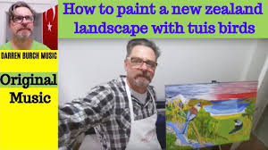 tuis how to paint a new zealand landscape with tuis birds original